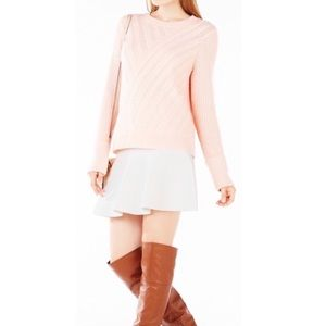 BCBGMAXAZRIA Caleigh Cable Knit Sweater